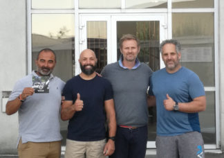 Idan Abolnik, en visite au centre d'entraînement Bulwark